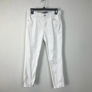 Wit & Wisdom Ab Solution White Cropped Jeans